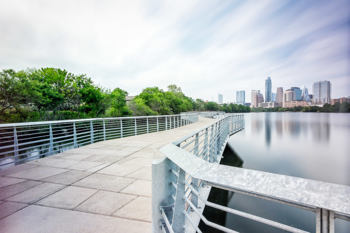 Austin Skyline from the Boardwalk at Ladybird Lake