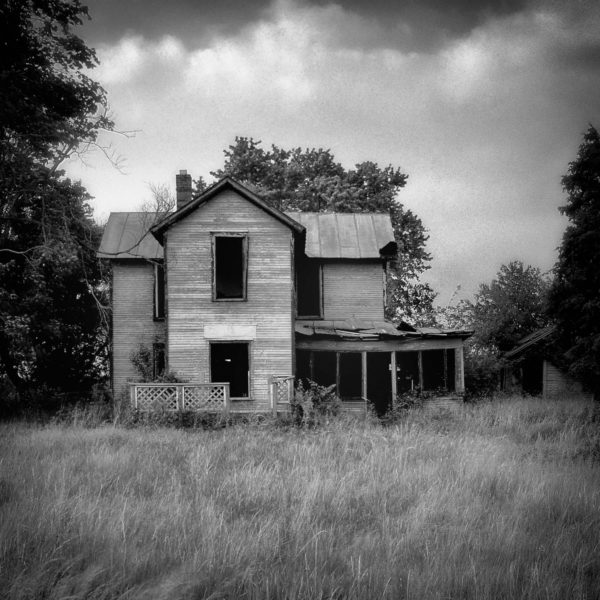 Empty - Fine Art Black and White Photograph of an Abandoned House