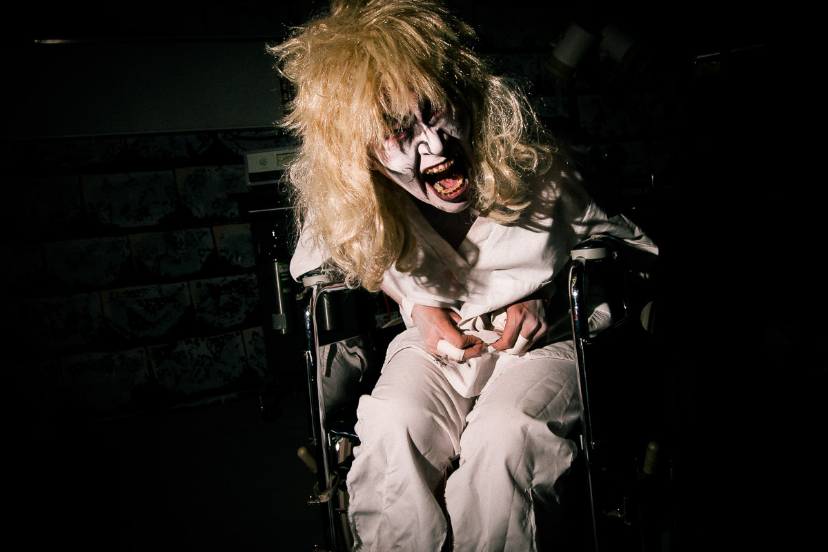 Haunted House Wheel Chair Freak