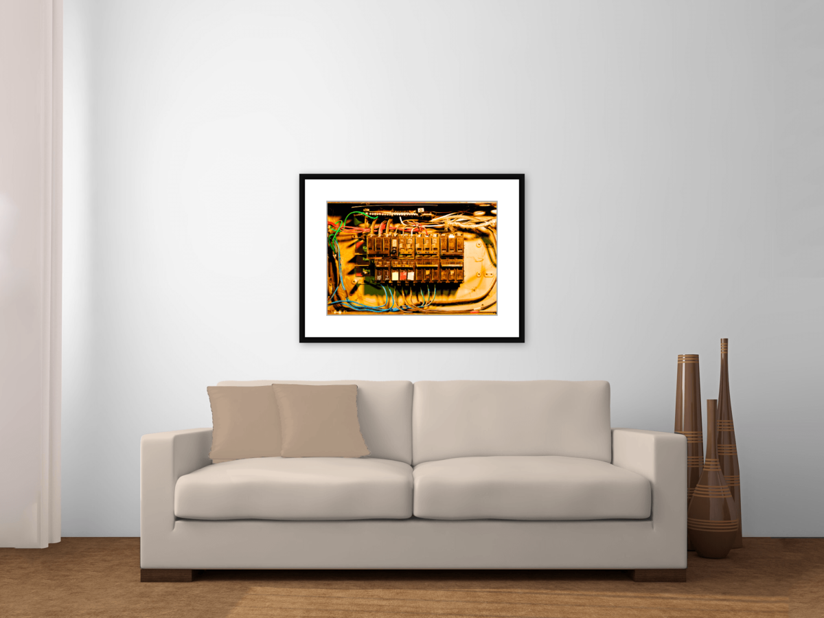 """Maintain"" Framed Photography Print Above a Couch"