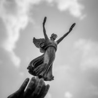 Nike - Winged Goddess of Victory - Black and White Photograph
