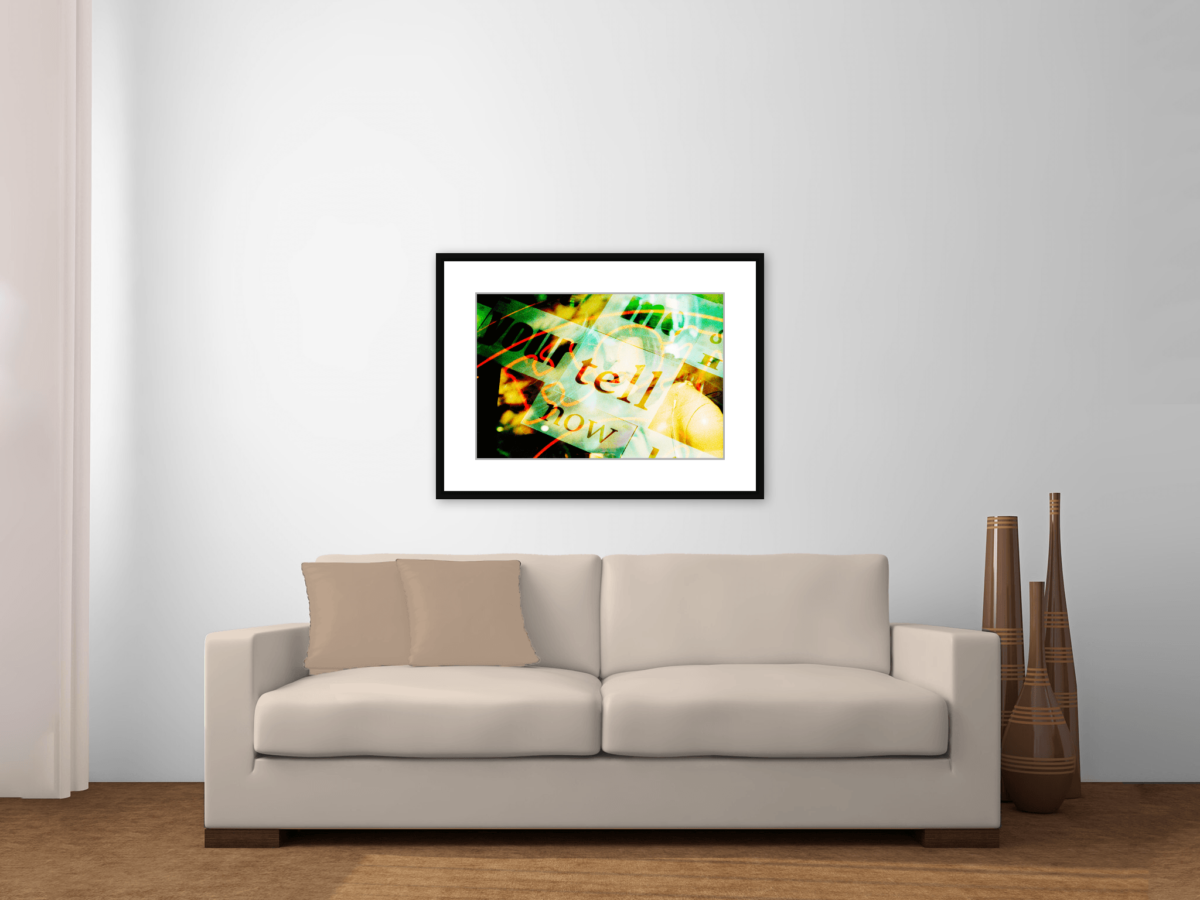"""Now Tell Me You're Hot"" Photography Print Framed Above Couch"