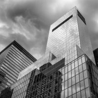 New York City Buildings - Black and White Photograph