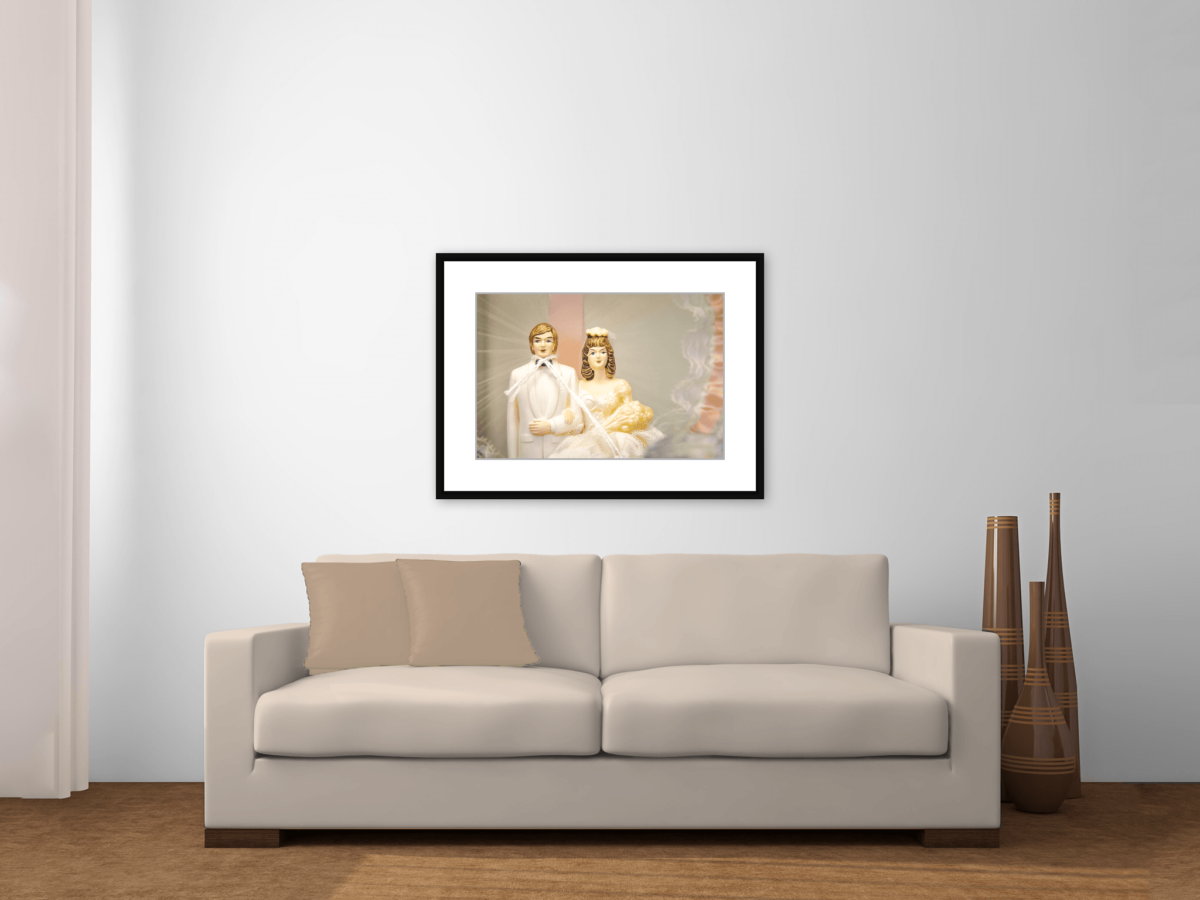 """Tie the Knott"" Framed Photography Print Above Couch"